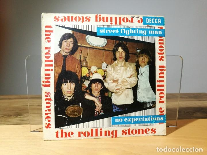 THE ROLLING STONES STREET FIGHTING MAN / NO EXPECTATIONS VINILO 7 SINGLE 45  RPM DECCA 1968 ESPAÑA