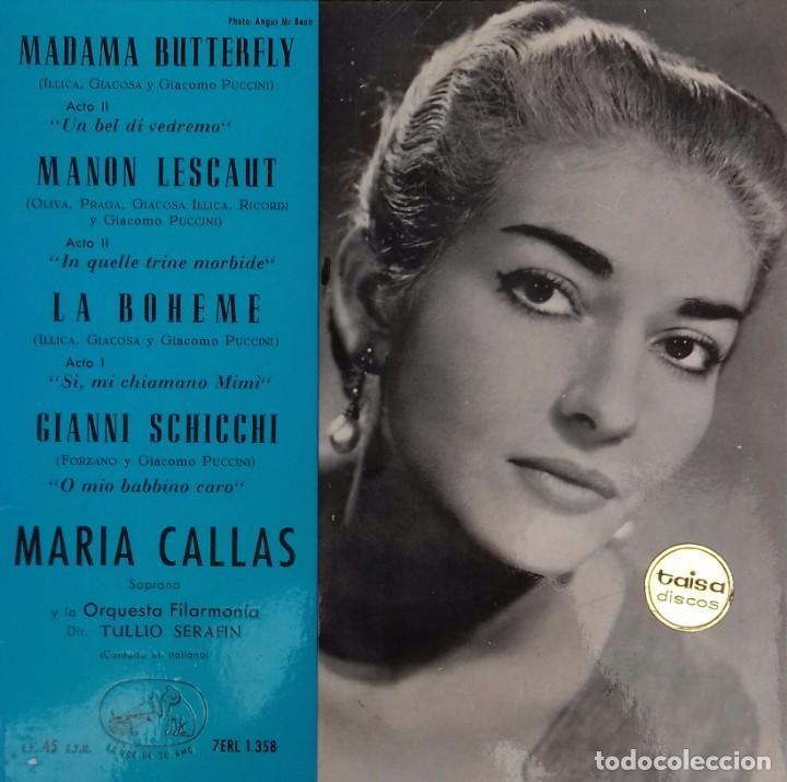 SENCILLO DE MARIA CALLAS (Música - Discos - Singles Vinilo - Clásica, Ópera, Zarzuela y Marchas)