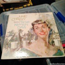 Discos de vinilo: JUNE CHRISTY - JUNE CHRISTY RECALLS THOSE KENTON DAYS (CAPITOL RECORDS - T-1202, US, 1959). Lote 144066342
