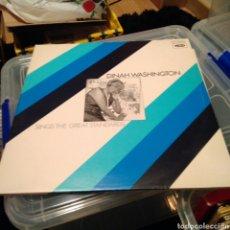Discos de vinilo: DINAH WASHINGTON - SINGS THE GREAT STANDARDS (EDICIÓN UK). Lote 144066406