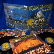 Discos de vinilo: IRON MAIDEN - LIVE AFTER DEATH - 2LP GERMANY 1985 + LIBRETO + 2 INSERTOS CON LAS LETRAS - EXC ESTADO. Lote 144506474