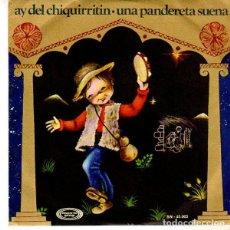 Discos de vinilo: ESCOLANIA DEL COLEGIO SAN ANTONIO DE MADRID / AY DEL CHIQUIRRITIN (SINGLE 1970) DISCO ROJO. Lote 144516250