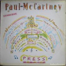 Discos de vinilo: PAUL MCCARTNEY (THE BEATLES): PRESS / IT´S NOT TRUE / HANGLIDE / PRESS (DUB MIX). Lote 144535434