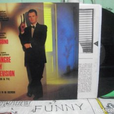Discos de vinilo: UN PINGUINO EN MI ASCENSOR. LA SANGRE Y LA TELEVISION. LP 1990 CON ENCARTE CON LETRAS. Lote 144573890