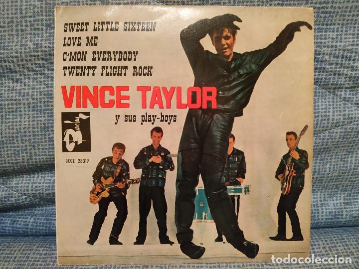 VINCE TAYLOR Y SUS PLAY-BOYS - SWEET LITTLE SIXTEEN + 3 - MUY RARO EDICION SPAIN AÑO 1961 COMO NUEVO (Música - Discos de Vinilo - EPs - Rock & Roll)