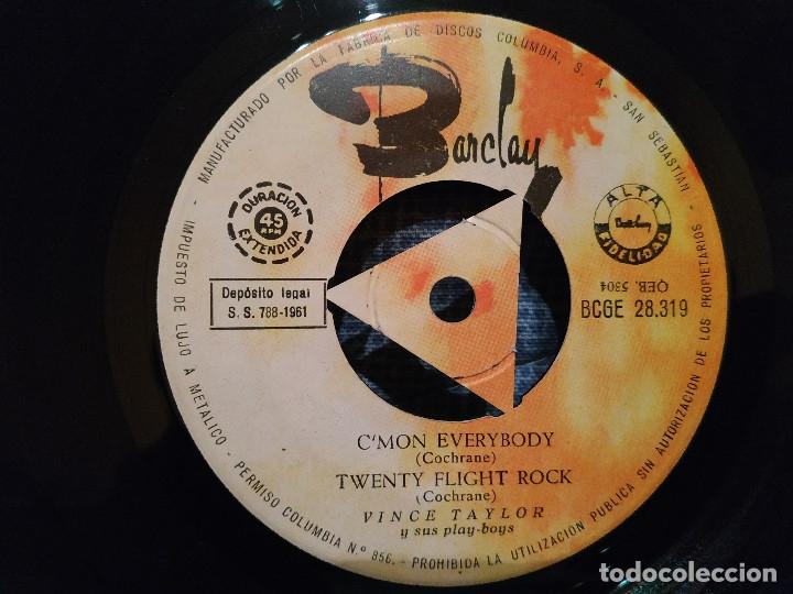 Discos de vinilo: VINCE TAYLOR Y SUS PLAY-BOYS - SWEET LITTLE SIXTEEN + 3 - MUY RARO EDICION SPAIN AÑO 1961 COMO NUEVO - Foto 4 - 144584030