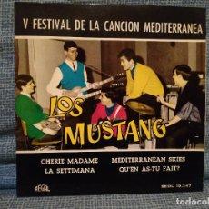 Discos de vinilo: LOS MUSTANG - CHERIE MADAME + 3 EP - V FESTIVAL CANCION MEDITERRANEA REGAL SEDL 19.347 COMO NUEVO. Lote 144588618