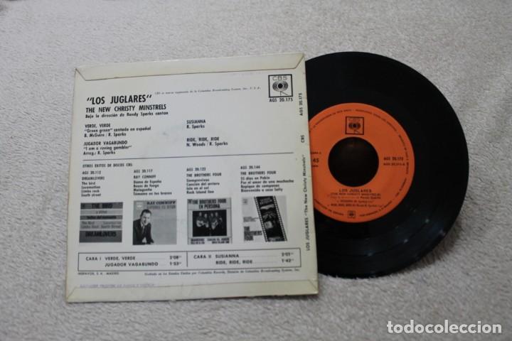 Discos de vinilo: LOS JUGLARES THE NEW CHRISTY MINSTRELS RANDY SPARKS SINGLE VINYL MADE IN SPAIN 1963 - Foto 2 - 144594890