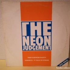 Discos de vinilo: THE NEÓN JUDGEMENT - THE FASHION PARTY, OLD GOLD. Lote 144596738