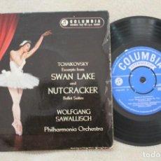 Discos de vinilo: TCHAIKOVSKY SWAN LAKE AND NUTCRACKER BALLET SUITES SINGLE VINYL MADE IN GT.BRITAIN 1959. Lote 144601282