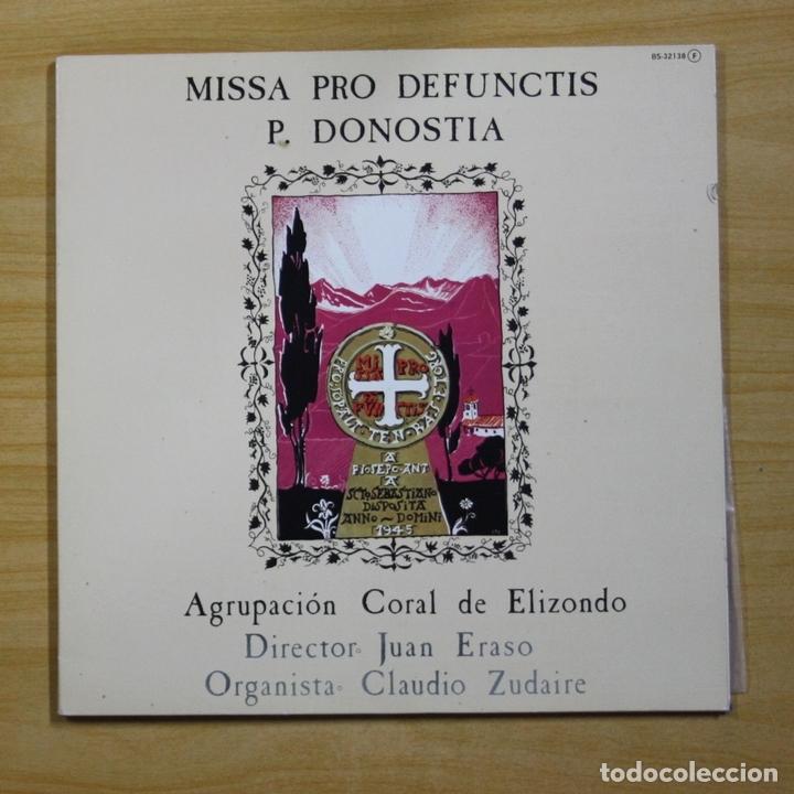 CORALDE ELIZONDO - MISSA PRO DEFUNCTIS P. DONOSTIA - GATEFOLD - LP (Música - Discos - LP Vinilo - Clásica, Ópera, Zarzuela y Marchas)