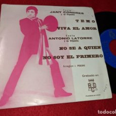 Discos de vinil: JANY CONDRES VIVA EL AMOR/TEMO + LATORRE NO SE A QUIEN/NO SOY EL PRIMERO EP 1971 BCD PROMO. Lote 144632838