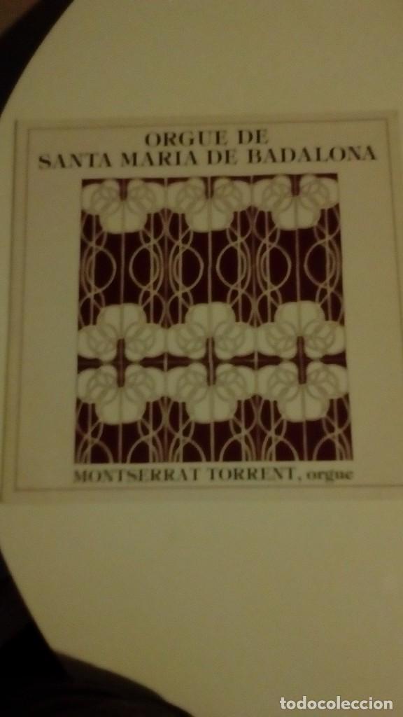 Discos de vinilo: ORGUE DE SANTA MARIA DE BADALONA - MONTSERRAT TORRENT - Foto 2 - 144633086