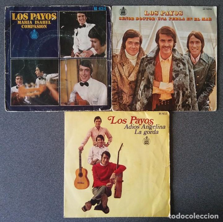 LOTE SINGLES LOS PAYOS (Música - Discos de Vinilo - EPs - Grupos Españoles de los 70 y 80)
