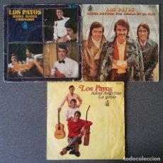 Discos de vinilo: LOTE SINGLES LOS PAYOS. Lote 144637134