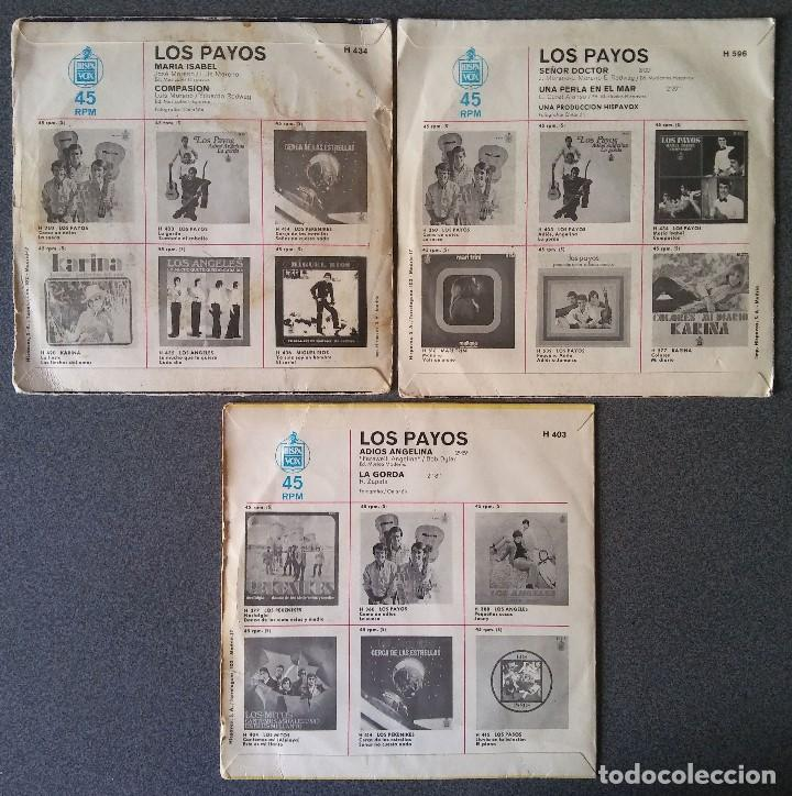 Discos de vinilo: Lote singles Los Payos - Foto 2 - 144637134
