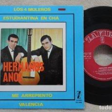 Discos de vinilo: HERMANOS ANOZ LOS 4 MULEROS SINGLE VINYL MADE IN SPAIN 1965. Lote 144645282