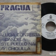 Discos de vinilo: FRAGUA ANDALUCIA CONTESTA SINGLE VINYL MADE IN SPAIN 1979 PROMOCIONAL. Lote 144646046