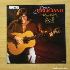 Discos de vinilo: JOSE FELICIANO - ROMANCE IN THE NIGHT - LP. Lote 144656014