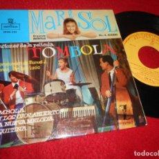 Discos de vinilo: MARISOL TOMBOLA/CON LOS OJOS ABIERTOS/UNA NUEVA MELODIA/CHIQUITINA 7 EP 1962 MONTILLA ALGUERO. Lote 207066367