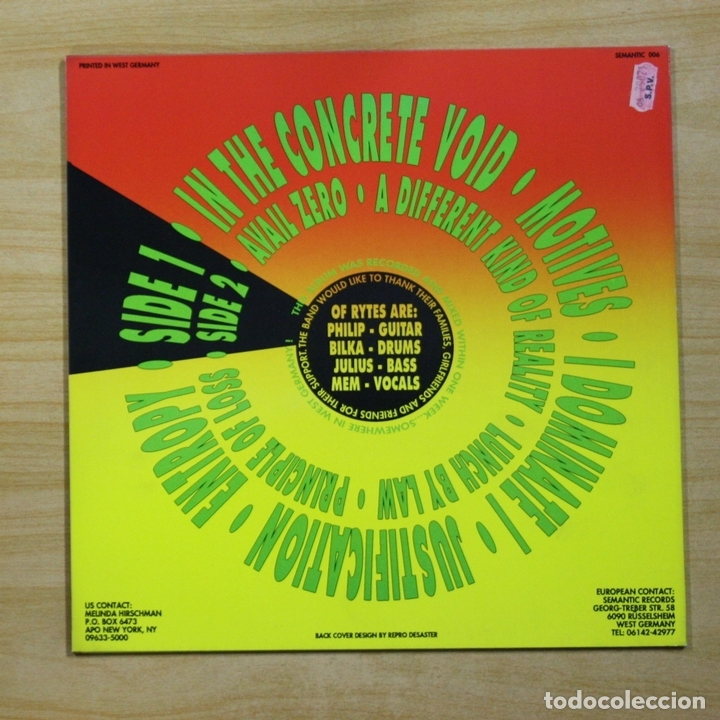 Discos de vinilo: OF RYTES - WITHOUT - LP - Foto 2 - 144694086
