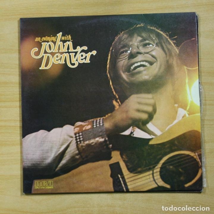 JOHN DENVER - AN EVENING WITH - GATEFOLD - 2 LP (Música - Discos - LP Vinilo - Country y Folk)