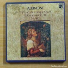 Discos de vinilo: ALBINONI - 12 CONCERTI A CINQUE OP 9 / 12 CONCERTI OP 10 - INCLUYE LIBRETO - BOX 6 LP. Lote 144707305
