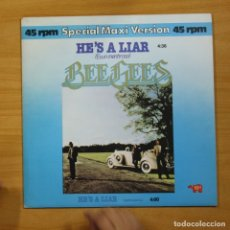 Discos de vinilo: BEE GEES - HE�S A LIAR - LP. Lote 144713632