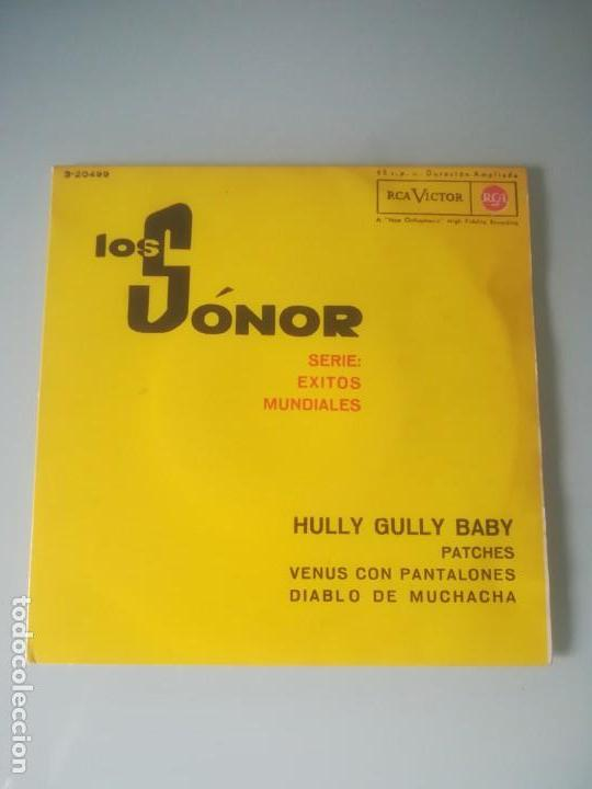 LOS SÓNOR - SERIE: ÉXITOS MUNDIALES - HULLY GULLY BABY (EP) (Música - Discos de Vinilo - EPs - Grupos Españoles 50 y 60)