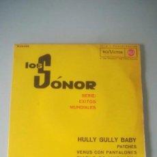 Discos de vinilo: LOS SÓNOR - SERIE: ÉXITOS MUNDIALES - HULLY GULLY BABY (EP). Lote 144718138