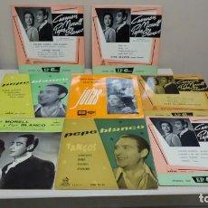 Discos de vinilo: 6 DISCOS PEPE BLANCO CON CARMEN MORELL-Y 2 PEPE BLANCO TANGOS -COCIDITO MADRILEÑO - AÑO-1958-1959. Lote 144722286