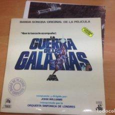 Dischi in vinile: BANDA SONORA ORIGINAL LA GUERRA DE LAS GALAXIAS DOBLE CON CARTEL EDITADO EN ESPAÑA 1977. Lote 144722634