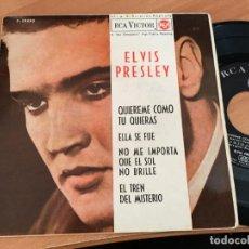 Discos de vinilo: ELVIS PRESLEY (QUIEREME COMO TU QUIERAS) EP ESPAÑA 1962 (EPI14). Lote 144726158