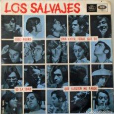 Discos de vinilo: LOS SALVAJES - TODO NEGRO + 3 TEMAS REGAL - 1966. Lote 144730566