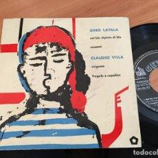 Dischi in vinile: GINO LATILLA / CLAUDIO VILLA (NEL BLU DIPINTO DI BLE / USIGNOLO +2) EP PROMO OSBORNE 1958 (EPI14). Lote 144731942
