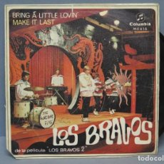 Discos de vinilo: SINGLE. LOS BRAVOS. BRING A LITTLE LOVIN'. Lote 171541092