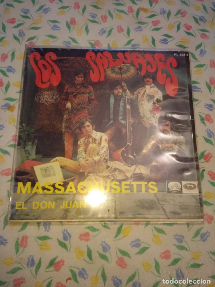 SG LOS SALVAJES : MASSACHUSETS + EL DON JUAN (Música - Discos - Singles Vinilo - Grupos Españoles 50 y 60)