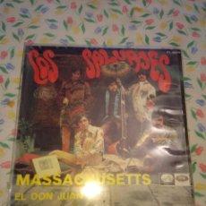 Discos de vinilo: SG LOS SALVAJES : MASSACHUSETS + EL DON JUAN . Lote 144761002