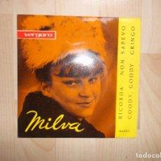 Discos de vinilo: MILVA – RICORDA / NON SAPEVO… - EP SPAIN 1963 – CETRA/VERGARA 356010 C. Lote 144773378