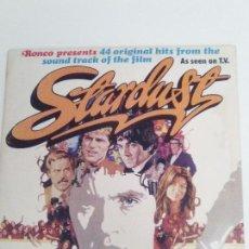Discos de vinilo: STARDUST 2LP ( 1975 RONCO UK ) DAVE EDMUNDS THE STRAY CATS DAVID ESSEX JIMI HENDRIX ANIMALS WHO . Lote 144793462