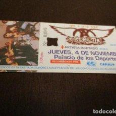 Discos de vinilo: AEROSMITH - ENTRADA CONCIERTO - GET A GRIP TOUR - BARCELONA - MR. BIG. Lote 144820690