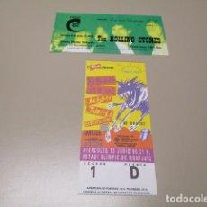 Discos de vinilo: ROLLING STONES - 2 ENTRADAS CONCIERTO - CALDERON 1982 + URBAN JUNGLE 1990 BARCELONA. Lote 144820922