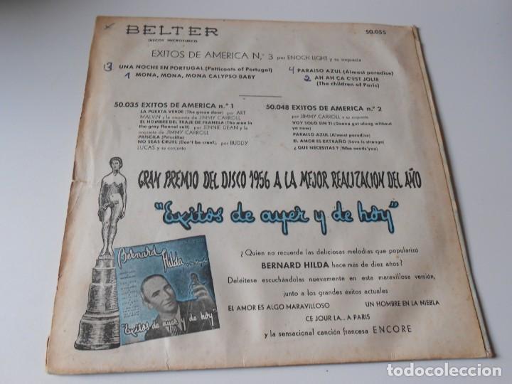 Discos de vinilo: ENOCH LIGHT y su Orquesta, EP, MONA, MONA, MONA CALYPSO BABY + 3, AÑO 1959 - Foto 2 - 144825474