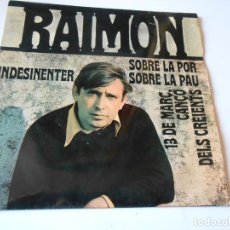 Discos de vinilo: RAIMON, EP, INDESINENTER + 3, AÑO 1968. Lote 144826754