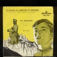 Discos de vinilo: LA ESCOLANÍA DEL MONASTERIO DE MONTSERRAT 45RPM. Lote 144826806
