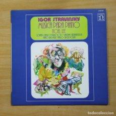 Discos de vinilo: STRAVINSKY - MUSICA PARA PIANO - LP. Lote 144842669