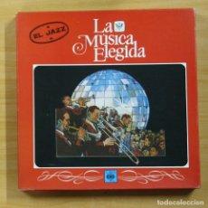 Discos de vinilo: VARIOS - LA MUSICA ELEGIDA EL JAZZ - BOX 4 LP. Lote 144849302