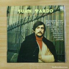 Discos de vinilo: JUAN PARDO - JUAN PARDO - LP. Lote 144853062