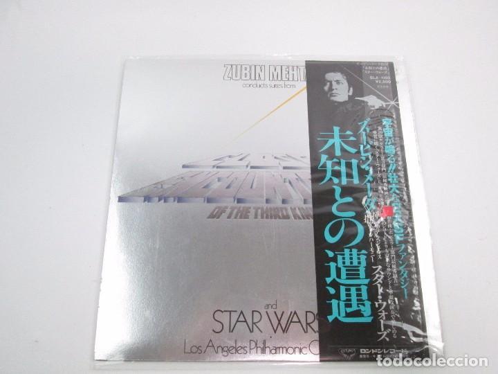 Discos de vinilo: VINILO EDICIÓN JAPONESA OST ( ZUBIN MEHTA ) STAR WARS JOHN WILLIAMS ANGELES PHILARMONIC ORCHESTRA - Foto 3 - 144858874