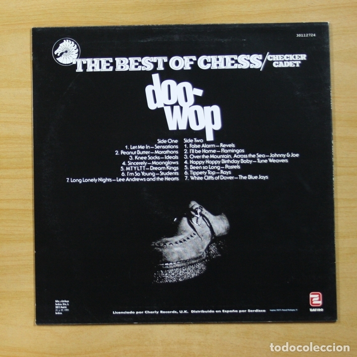 Discos de vinilo: VARIOS - THE BEST OF CHESS CHECKER CADET DOO WOP - LP - Foto 2 - 144871945